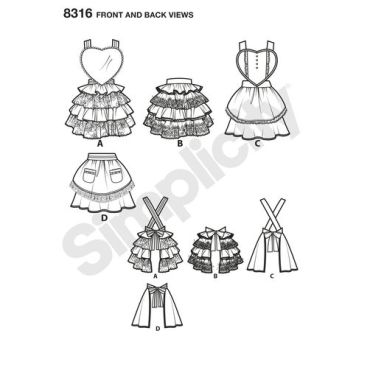 simplicity-apron-pattern-8316-front-back-view