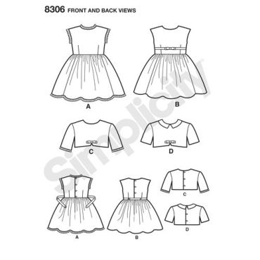 simplicity-children-vintage-pattern-8306-front-back-view