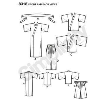 simplicity-costume-pattern-8318-front-back-view