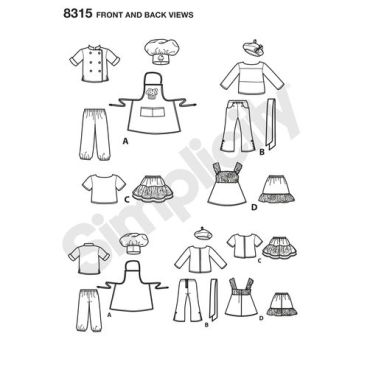 simplicity-doll-clothes-pattern-8315-front-back-view