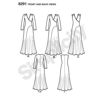 simplicity-dress-pattern-8291-front-back-view