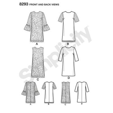 simplicity-dress-pattern-8293-front-back-view