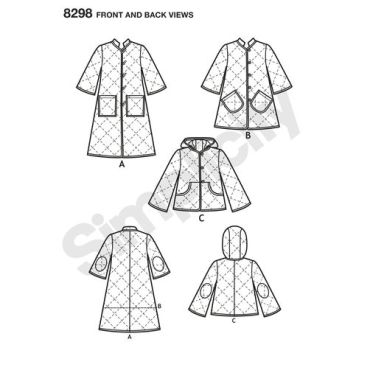 simplicity-jacket-coat-pattern-8298-front-back-view