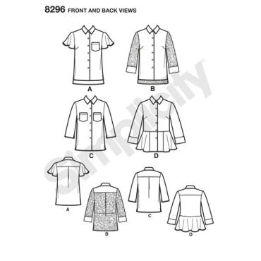 simplicity-top-vest-pattern-8296-front-back-view