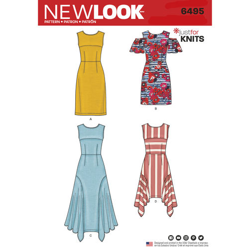 newlook-knit-dress-pattern-6495-envelope-front