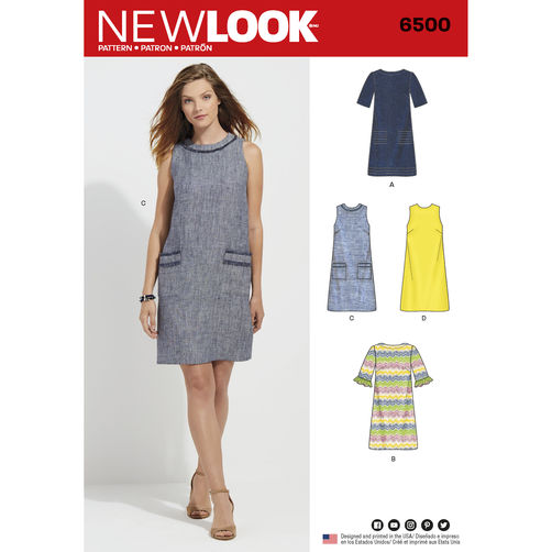 newlook-shift-dress-pattern-6500-envelope-front