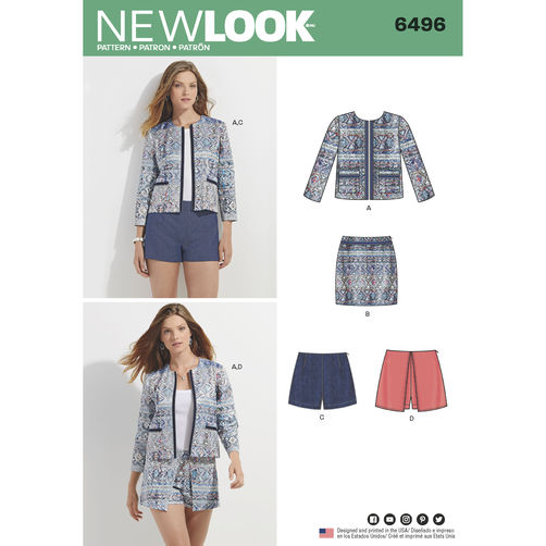 newlook-suit-skort-pattern-6496-envelope-front