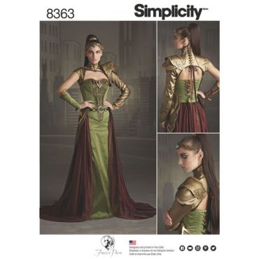 simplicity-fantasy-costume-pattern-8363-envelope-front