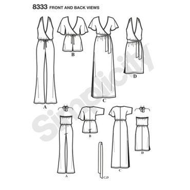 simplicity-knit-jumpsuit-pattern-8333-front-back-view