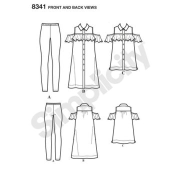 simplicity-mimi-g-shirtdress-pattern-8341-front-back-view