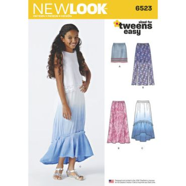 newlook-girls-skirt-pattern-6523-envelope-front