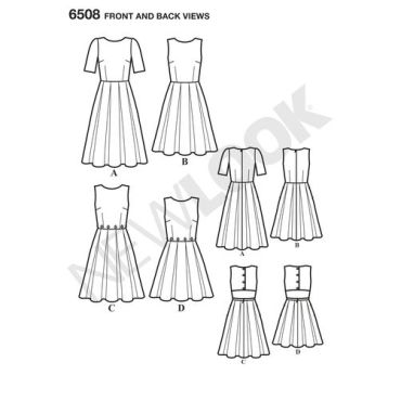 newlook-open-back-pattern-6508-front-back-view