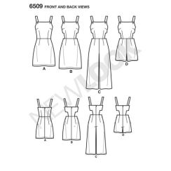newlook-romper-dress-pattern-6509-front-back-view