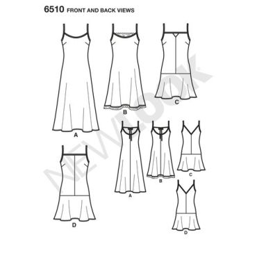 newlook-slip-dress-pattern-6510-front-back-view