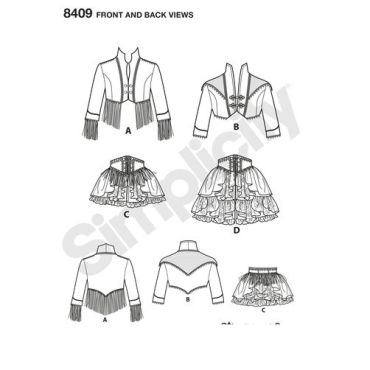 simplicity-corset-skirt-arkivestry-costume-pattern-8409-front-back-view