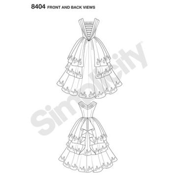 simplicity-costume-pattern-8404-front-back-view