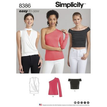 simplicity-easy-to-sew-knit-top-pattern-8386-envelope-front