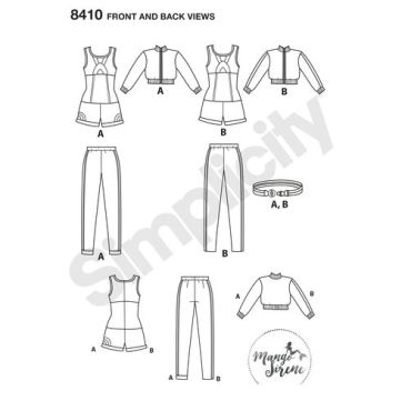 simplicity-gamer-costume-pattern-8410-front-back-view