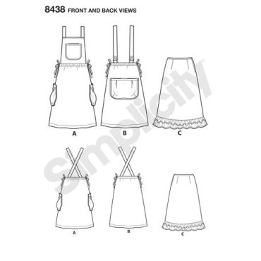 simplicity-apron-dress-pattern-8438-front-back-view