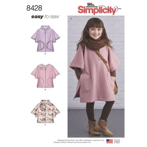 simplicity-child-poncho-pattern-8428-envelope-front