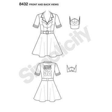 simplicity-costume-pattern-8432-front-back-view