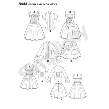 simplicity-costume-pattern-8444-front-back-view