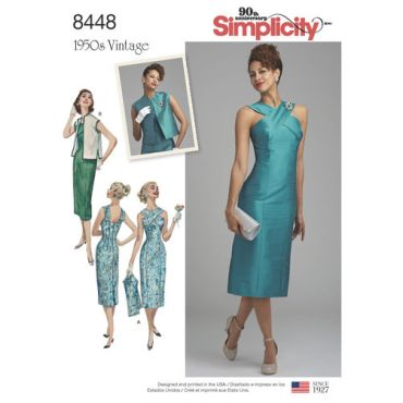 simplicity-vintage-1950s-dress-miss-pattern-8448-envelope-front
