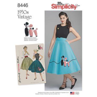 simplicity-vintage-1950s-poodle-skirt-miss-pattern-8446-envelope-front