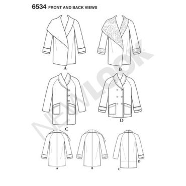 New-Look-asymmetrical-coat-pattern-6534-front-back-view