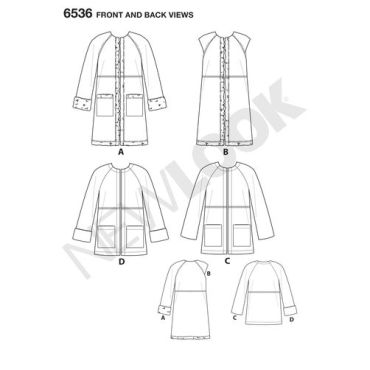 New-Look-shearling-coat-pattern-6536-front-back-view