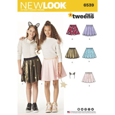 New-Look-tween-skirts-pattern-6539-envelope-front