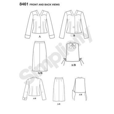simplicity-1940s-vintage-plus-size-pattern-8461-front-back-view
