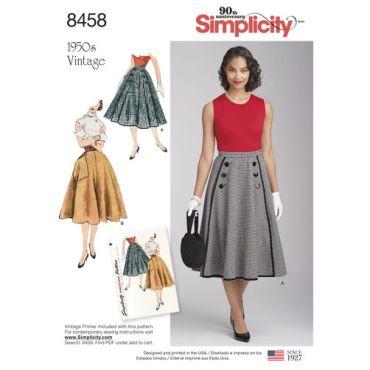simplicity-1950s-vintage-skirt-pattern-8458-envelope-front