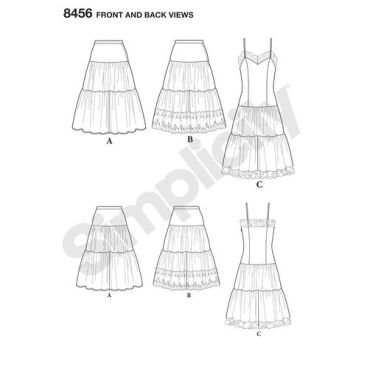 simplicity-1950s-vintage-slip-petticoat-pattern-8456-front-back-view