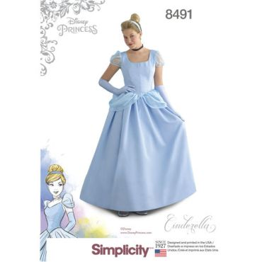 simplicity-cinderella-disney-costume-8491-envelope-front
