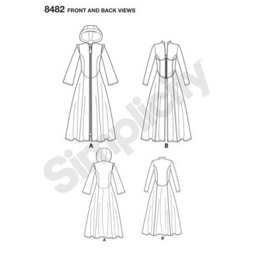 simplicity-cosplay-coat-pattern-8482-front-back-view