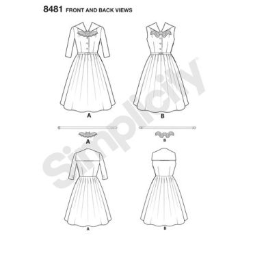 simplicity-costume-pattern-8481-front-back-view