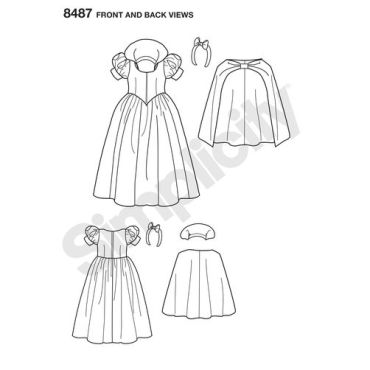 simplicity-costume-pattern-8487-front-back-view