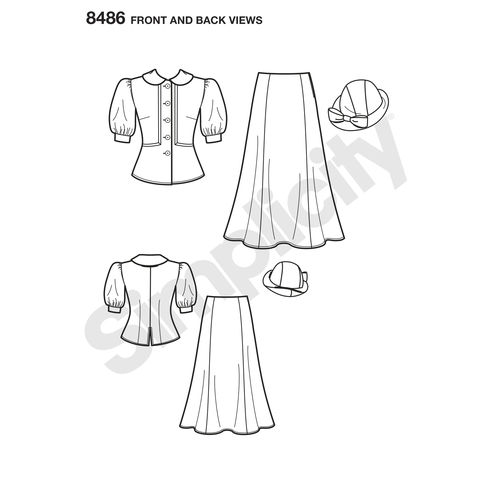simplicity-dapper-snow-white-costume-pattern-8486-front-back