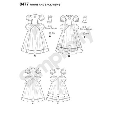 simplicity-princess-peach-pattern-8477-front-back-view