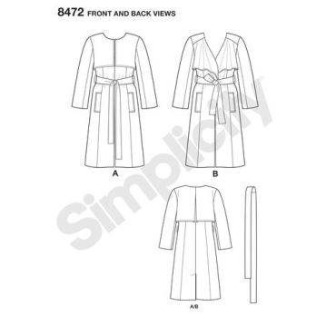simplicity-soft-trench-coat-pattern-8472-front-back-view