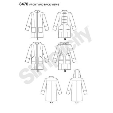 simplicity-stadium-coat-pattern-8470-front-back-view