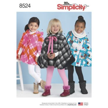 simplicity-child-cape-pattern-8524-envelope-front