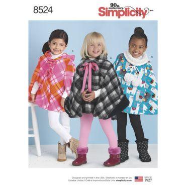 simplicity-child-cape-pattern-8524-envelope-front