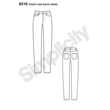 simplicity-denim-pattern-8516-front-back-view