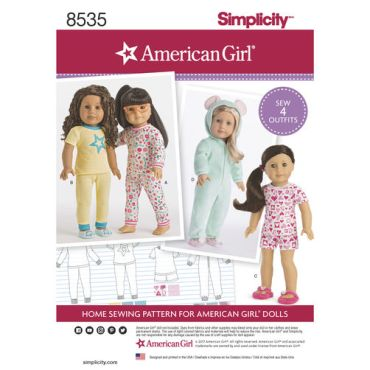 simplicity-doll-pajamas-pattern-8535-envelope-front