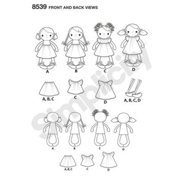 simplicity-doll-stuffies-pattern-8539-front-back-view