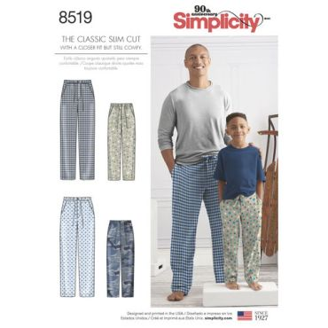 simplicity-father-son-pjs-pattern-8519-envelope-front