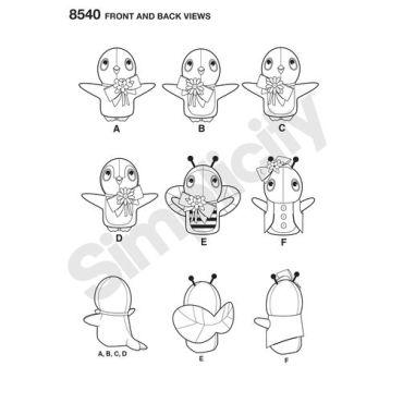 simplicity-felt-stuffies-pattern-8540-front-back-view