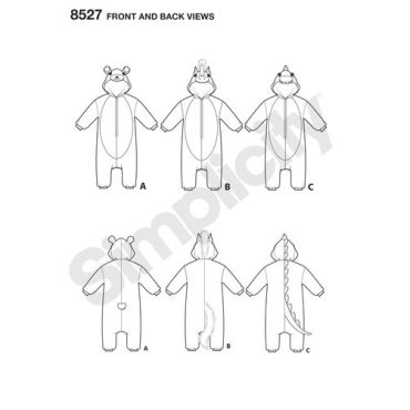simplicity-kids-kigurumi-pattern-8527-front-back-view
